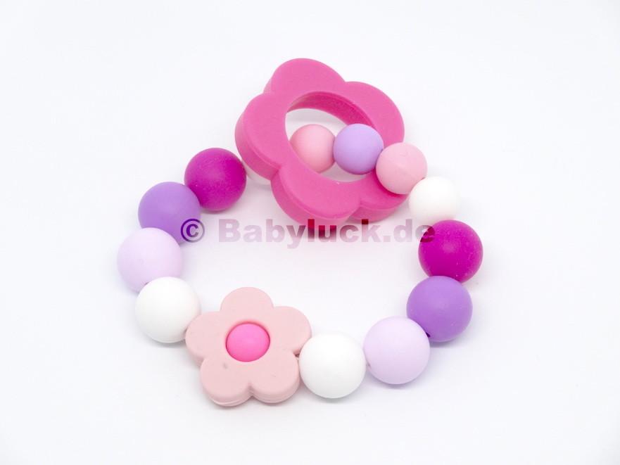 "Greifling ""Flower Power"" pink, rosa, lila"