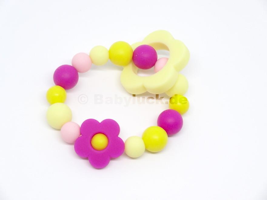 """Greifling """"Flower Power"""" pink, gelb"""