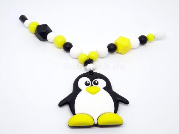Greifling mit Pinguin, Silikon, bpa frei, Babyluck.de, Babyluck