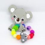 Koalafamilie, Silikon, Greifling, Regenbogen, Babyluck